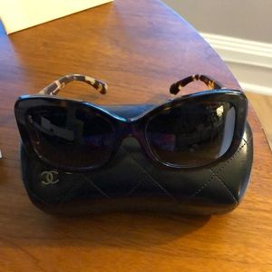 Chanel Tortoise Shell Square Sunglasses 5322